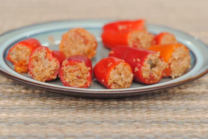 Ricetta dei Mini peperoni ripieni senza carne